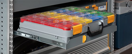 Porta valigette per furgoni con soluzioni di allestimento