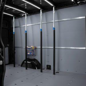 Sistema per la sicurezza del carico trasportato su furgoni
