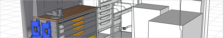 Progettazione 3D per allestimenti furgoni