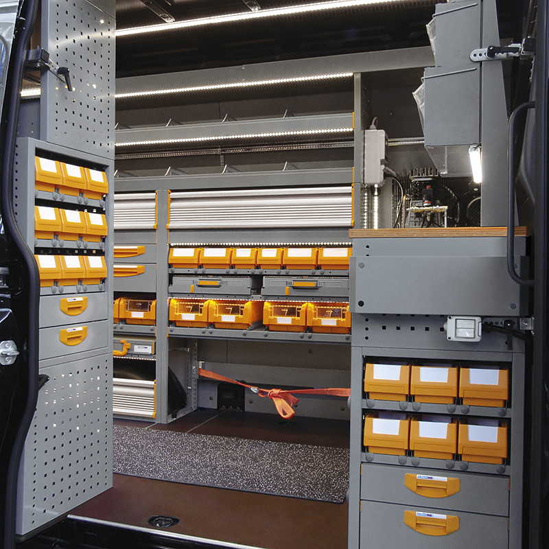 Van Racking And Shelving Store Van