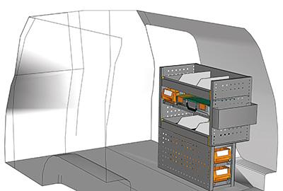 Example van equipment Caddy CA-0709-11