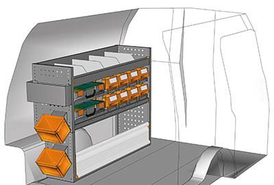Example van equipment Caddy CA-1209-06