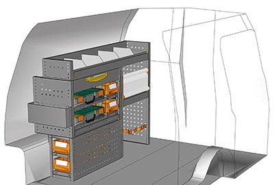 Example van equipment Caddy CA-1209-12
