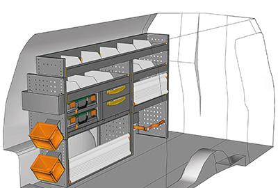Example van equipment Caddy CA 1710-03