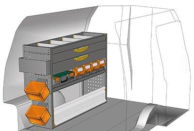 Fahrzeugeinrichtungen für Caddy CA-1209-10
