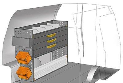 Fahrzeugeinrichtungen für Caddy CA-1209-11