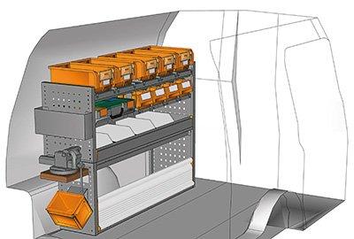 Fahrzeugeinrichtungen für Caddy CA-1209-15