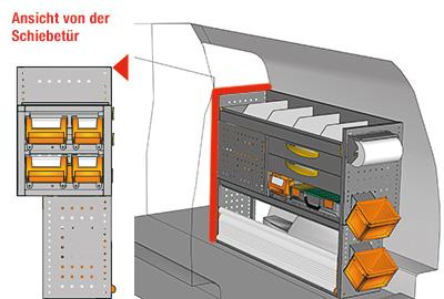 Fahrzeugeinrichtungen für Caddy CA-1209-25