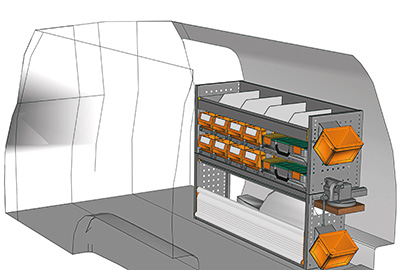 Fahrzeugeinrichtungen für Caddy CA-1209-27