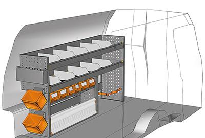 Fahrzeugeinrichtungen für Volkswagen Caddy CA-1709-01
