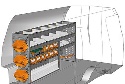 Fahrzeugeinrichtungen für Volkswagen Caddy CA-1709-02