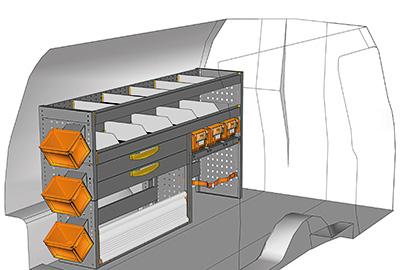 Fahrzeugeinrichtungen für Volkswagen Caddy CA-1709-03