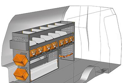 Fahrzeugeinrichtungen für Volkswagen Caddy CA-1709-04