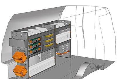 Fahrzeugeinrichtungen für Volkswagen Caddy CA-1709-05