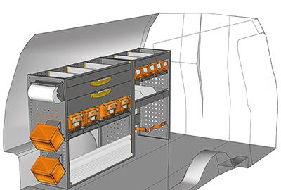 Fahrzeugeinrichtungen für Volkswagen Caddy CA-1709-06