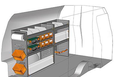 Fahrzeugeinrichtungen für Caddy CA-1709-07