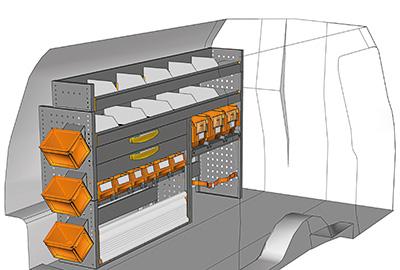 Fahrzeugeinrichtungen für Caddy CA-1710-02