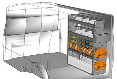 Fahrzeugeinrichtungen für Transporter TS-1012-02