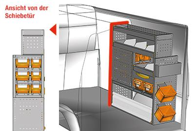 Fahrzeugeinrichtungen für Transporter TS-1012-05