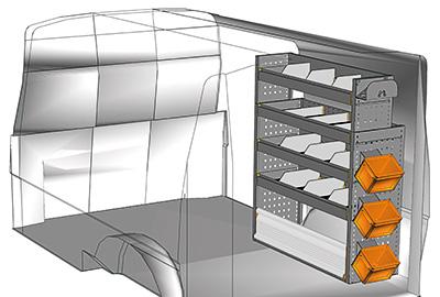 Fahrzeugeinrichtungen für Transporter TS-1012-09