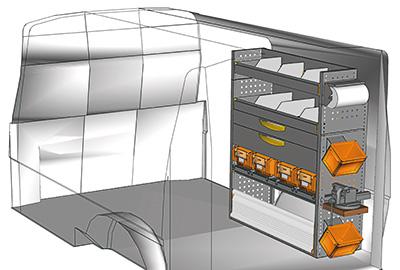 Fahrzeugeinrichtungen für Transporter TS-1012-14