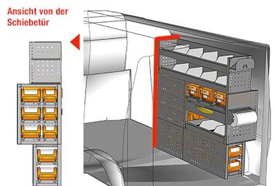 Fahrzeugeinrichtungen für Transporter TS-1212-05