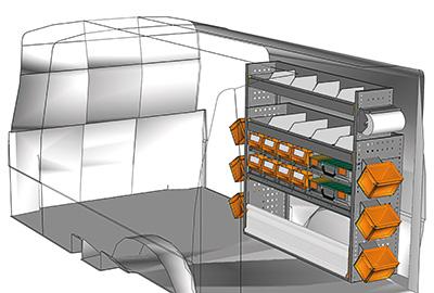 Fahrzeugeinrichtungen für Transporter TS-1212-08