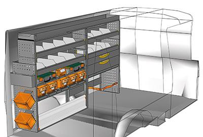 Fahrzeugeinrichtungen für Volkswagen Transporter TS-2212-04