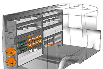 Fahrzeugeinrichtungen für Volkswagen Transporter TS-2412-02