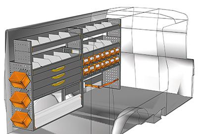 Fahrzeugeinrichtungen für Transporter TS-2412-06