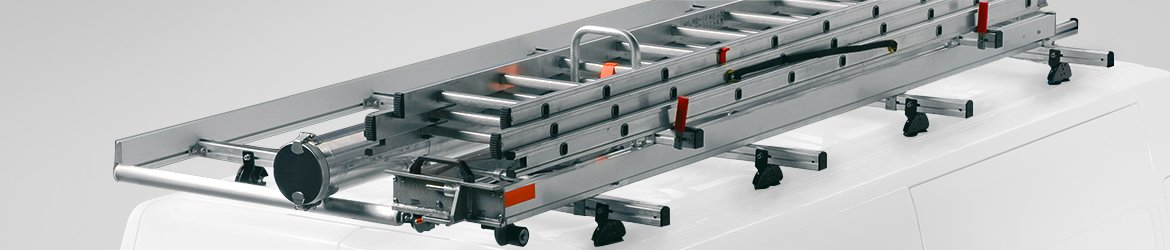 Roof bars and roof racks for transporting material on van roofs
