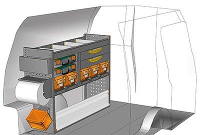 Exemples aménagements Volkswagen Caddy L1 H1 CA-1209-01