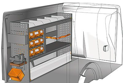 Ejemplo de equipamientos para furgonetas Citan L2 H1 KA 1510 03