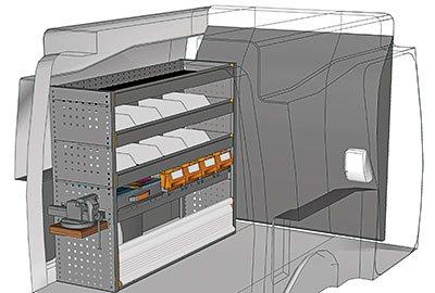 Ejemplo de equipamientos para furgonetas Partner PA 1210 06