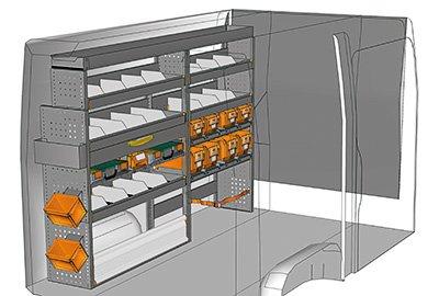 Ejemplo de equipamientos para furgonetas Volkswagen Crafter L1 H1 SP 2215-02