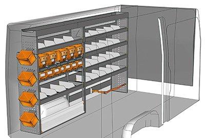 Ejemplo de equipamientos para furgonetas Sprinter L2 H1 SP-2715-01