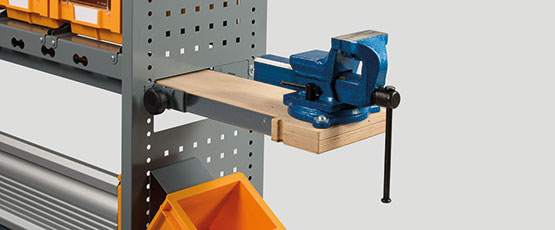 WORK EASY, extractable vise workbench for installation on equipped vans