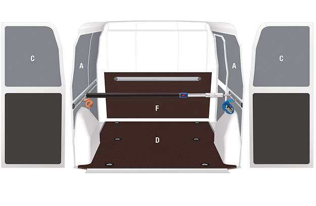 Floor and panellings for Fiat Fiorino