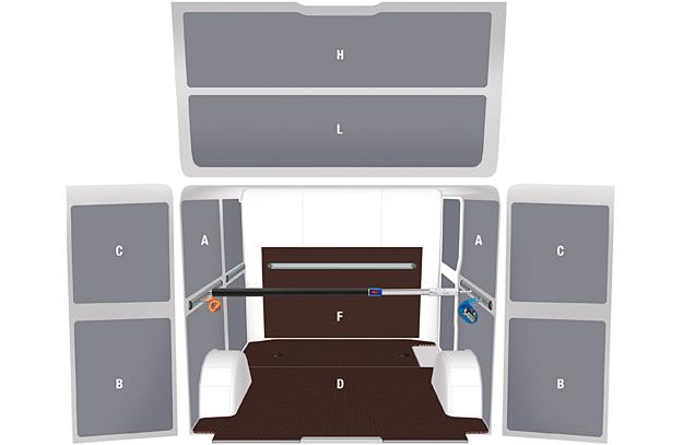 Pianale e pannellature per furgoni Transporter