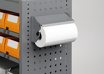 Paper towel holder kit with paper towel Ø 140 mm