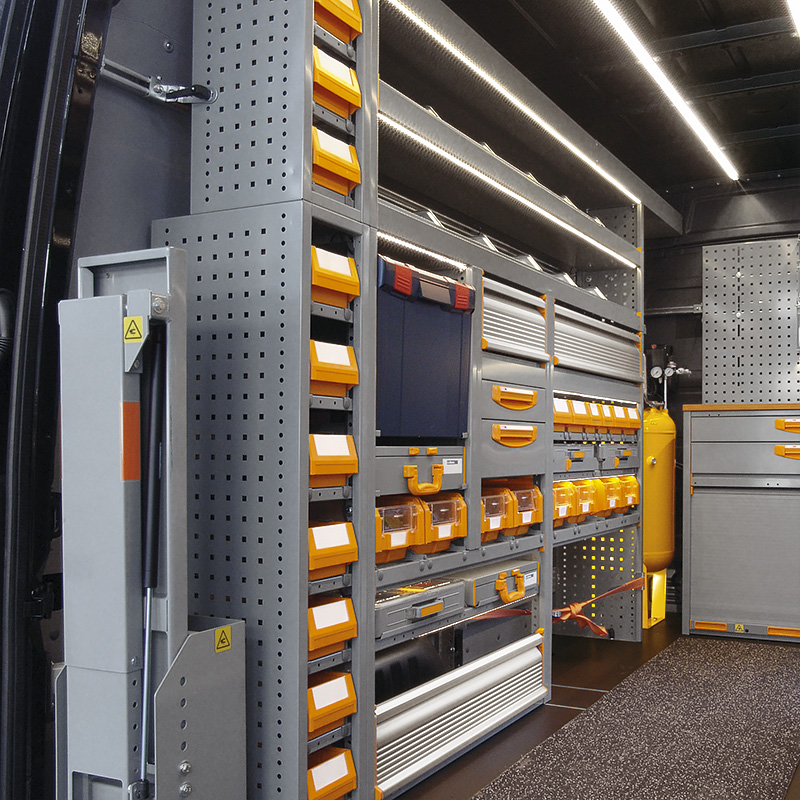 Van Racking And Shelving Store Van