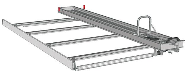 Ladder rack for Nissan NV300
