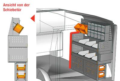 Fahrzeugeinrichtungen für Vito VT 1012 27