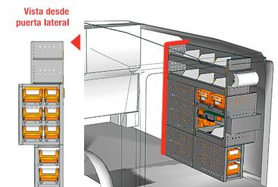 Ejemplo de equipamientos para furgonetas Vito L1LH1 VT 1012 04