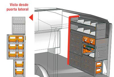 Ejemplo de equipamientos para furgonetas Vito L1H1 VT 1012 24