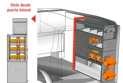 Ejemplo de equipamientos para furgonetas Vito L1H1 VT 1012 25