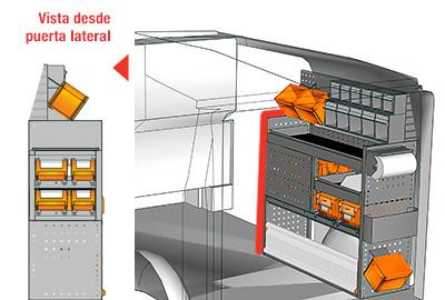Ejemplo de equipamientos para furgonetas Vito L1H1 VT 1012 26