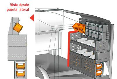 Ejemplo de equipamientos para furgonetas Vito L1H1 VT 1012 27