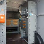 Allestimento per furgoni Ford Transit: pianale, pannellature, scaffalature, portatutto e portascale. Chiamaci per avere un preventivo gratuito: 0800 2142840
