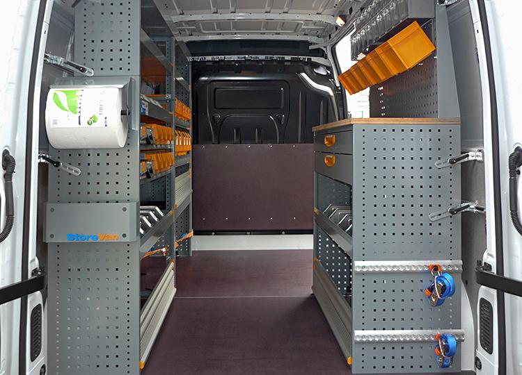 Allestimento furgone Opel Movano